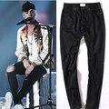 Temor de dios negro jeans de marca para hombre pantalones vaqueros rasgados para los hombres biker rockstar justin bieber vaqueros flacos pantalones vaqueros de diseño de alta calidad 5
