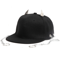 Unisex Punk Baseball Caps With Chain Outdoor Sports Snapback Hats Hip Hop Casual Bone Hat For