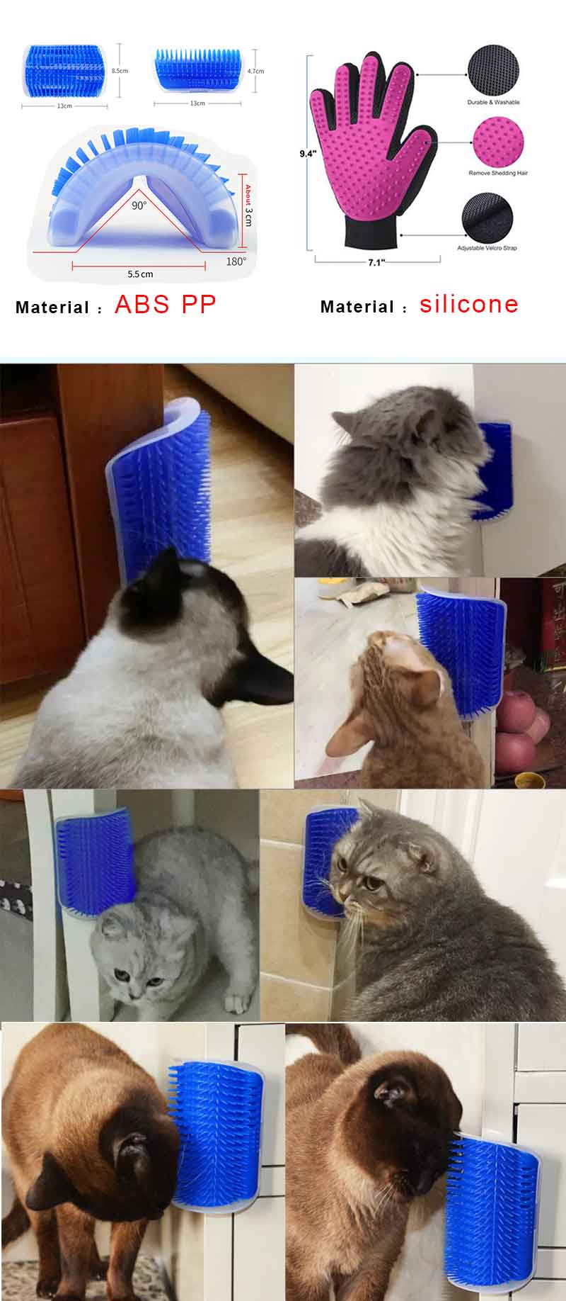 HTB1tqiME25TBuNjSspmq6yDRVXaF Cat Self Grooming Hair Accessorie With Catnip Angle Face Tickling Dog Hair Removal Massage Brush Comb And Pet Dog Cat Grooming Glove