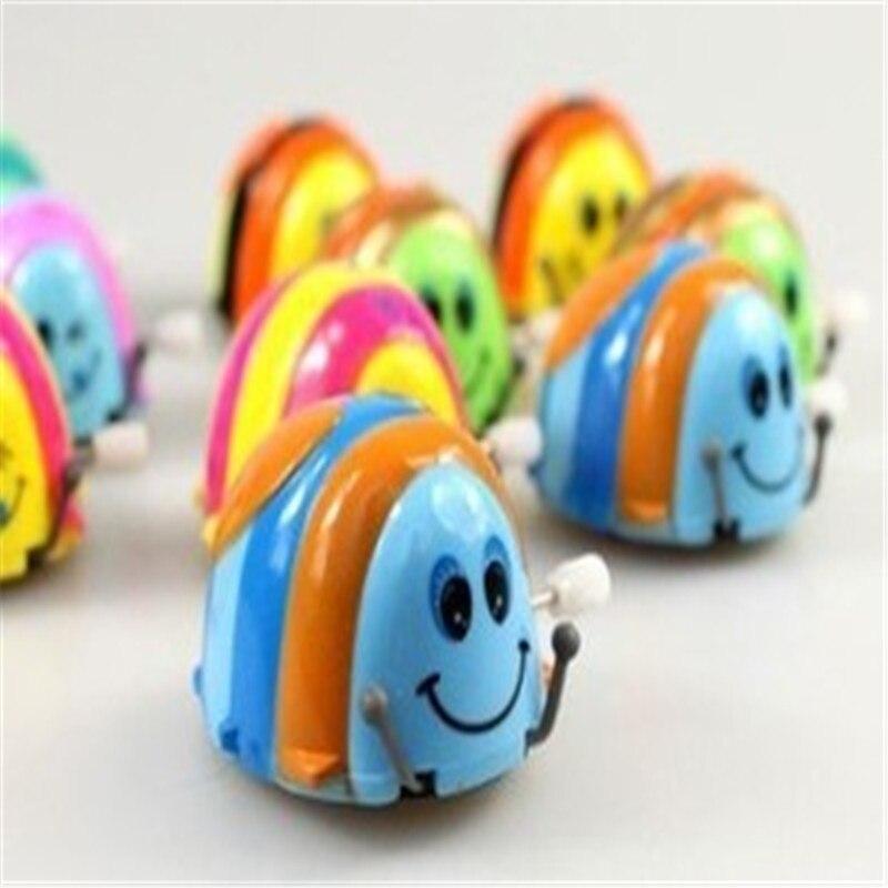 5 шт./лот Новый высокое качество Веселые красочные детские малыш Жук листать сальто Бег Заводной Игрушечные лошадки для детей
