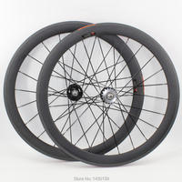 1pair New 700C 50mm Clincher Rims Track Fixed Gear Bike Matte UD Full Carbon Fibre Bicycle