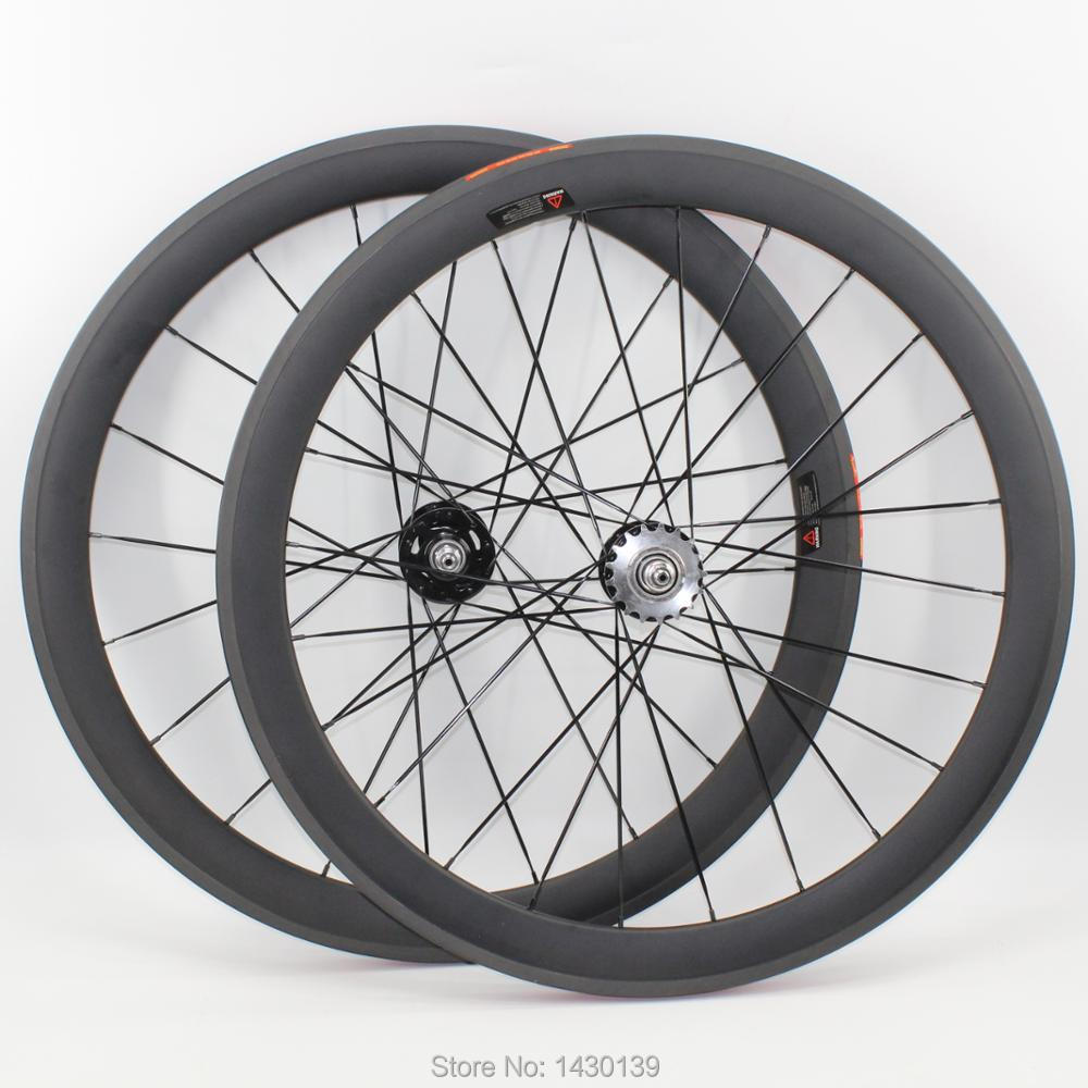 1pair New 700C 50mm clincher rims Track fixed gear bike matte UD full carbon fibre bicycle wheelset 20.5 23 25mm width Free ship track frame fixed gear frame bsa carbon 1 1 2to 1 1 8 bike frameset with fork seatpost road carbon frames fixed gear frameset