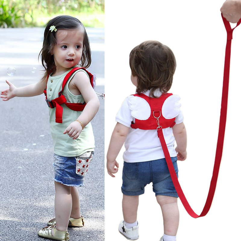 Baby Safety Harness Strap Toddler Walking Anti-Lost Rope Angel Wings Traction Rope Kids Walking Leashes Towing Line
