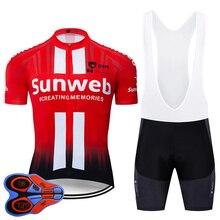 2019 Pro Team sunweb красный Vélo 9D нагрудник комплект велосипед Майо дышащий MTB быстросохнущие велосипед одежда Ropa ciclismo гель pad