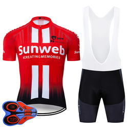 2019 Pro Team sunweb red Cycling Jersey 9D Bib Set Bicycle maillot breathable MTB quick dry bike clothing Ropa ciclismo gel pad