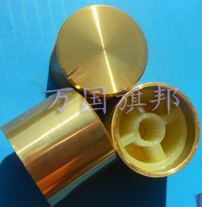 Free Delivery.Aluminum Knob Potentiometer Knob Light Gold 17 Mm High 21 * 17 To 21 Mm In Diameter