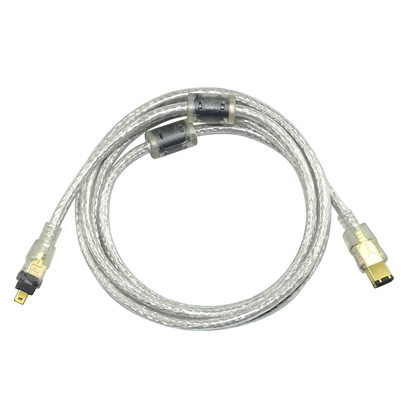 IEEE1394 Cable 4P to 6P 4P 6P 4Pin to 6Pin Firewire 800 to ...