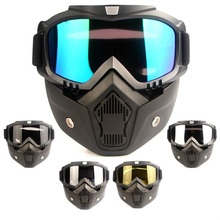 Goggles Cascos Scooter Moto-Cross And MOUTH-FILTER DERI Para Capacete New-Arrival
