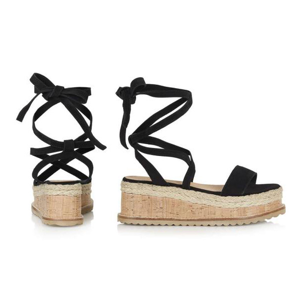e7f1efc056a5 2018 New Fashion Women Flat Wedge Espadrille Sandals Lace Tie Up Platform  Summer Beach Shoes BS88-in Middle Heels from Shoes on Aliexpress.com