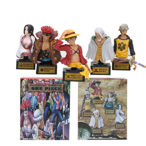 5pcs/set Anime One Piece Figure Luffy Law Boa Hancock Silvers Rayleigh Eustass Kid Bust Statue PVC Figures Model Toys(China)