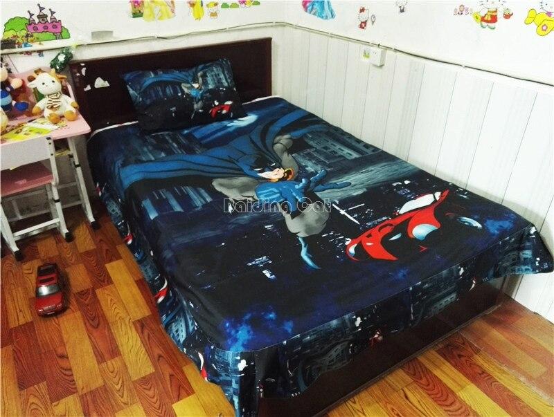 conjunto princesa roupa de cama batman roupas de estudante dormitório