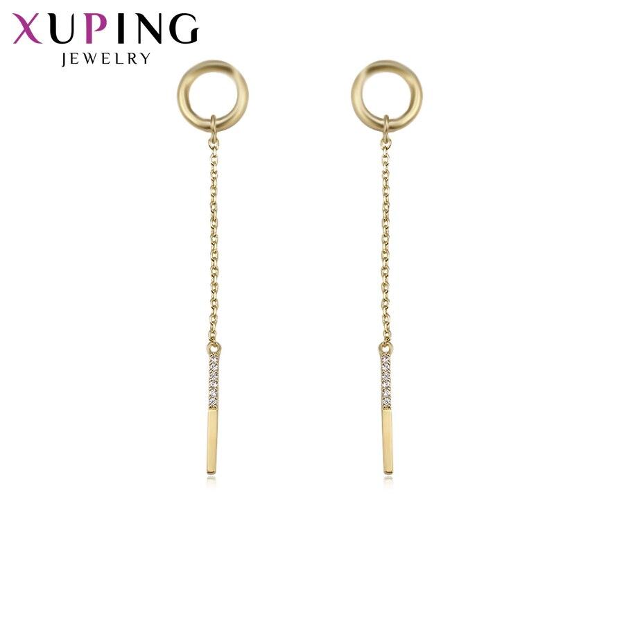 11,11 сделок Xuping модные, пикантные длинные серьги с синтетических CZ для Для женщин Рождество Jewelry подарки S76, 5-94437
