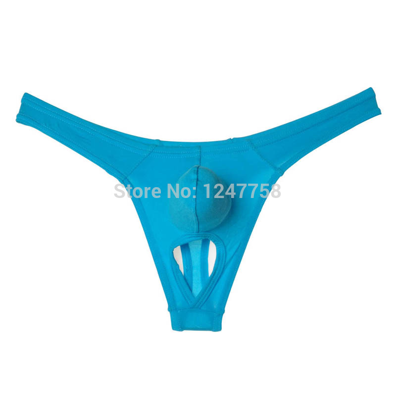 New Hot Men's Balls Hole Thong Nuts Out Underwear Modal Pouch T-Back Modal Trunks  Size M L XL Offer 5 Color Available