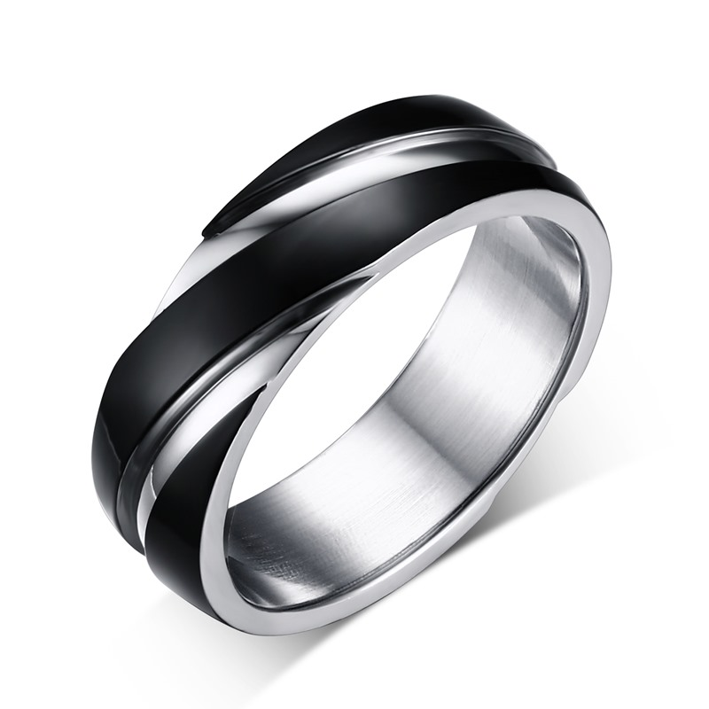 Buy Male Titanium Ring Gun Black Rose