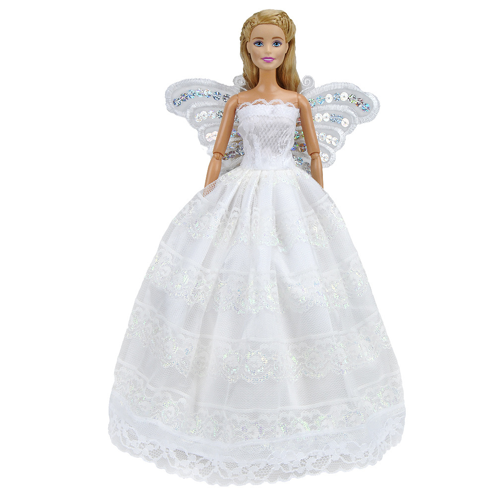 Doll Accessories Butterfly Embroidered Wedding Dress For Beautiful Wear Toy Princess Wardrobe 11inch: Erfly Embroidered Wedding Dress At Reisefeber.org