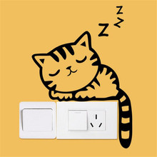 Cat Dog Wall Stickers Light Switch Decor Decals Stickers Art Mural Baby Nursery Rooms Duvar Sticker Room Pegatinas Paredes Decor