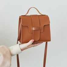 2019 New Women One Shoulder Crossbody Bag PU Leather Retro Handbag 5 Colors Fashion Messenger Small Wallet