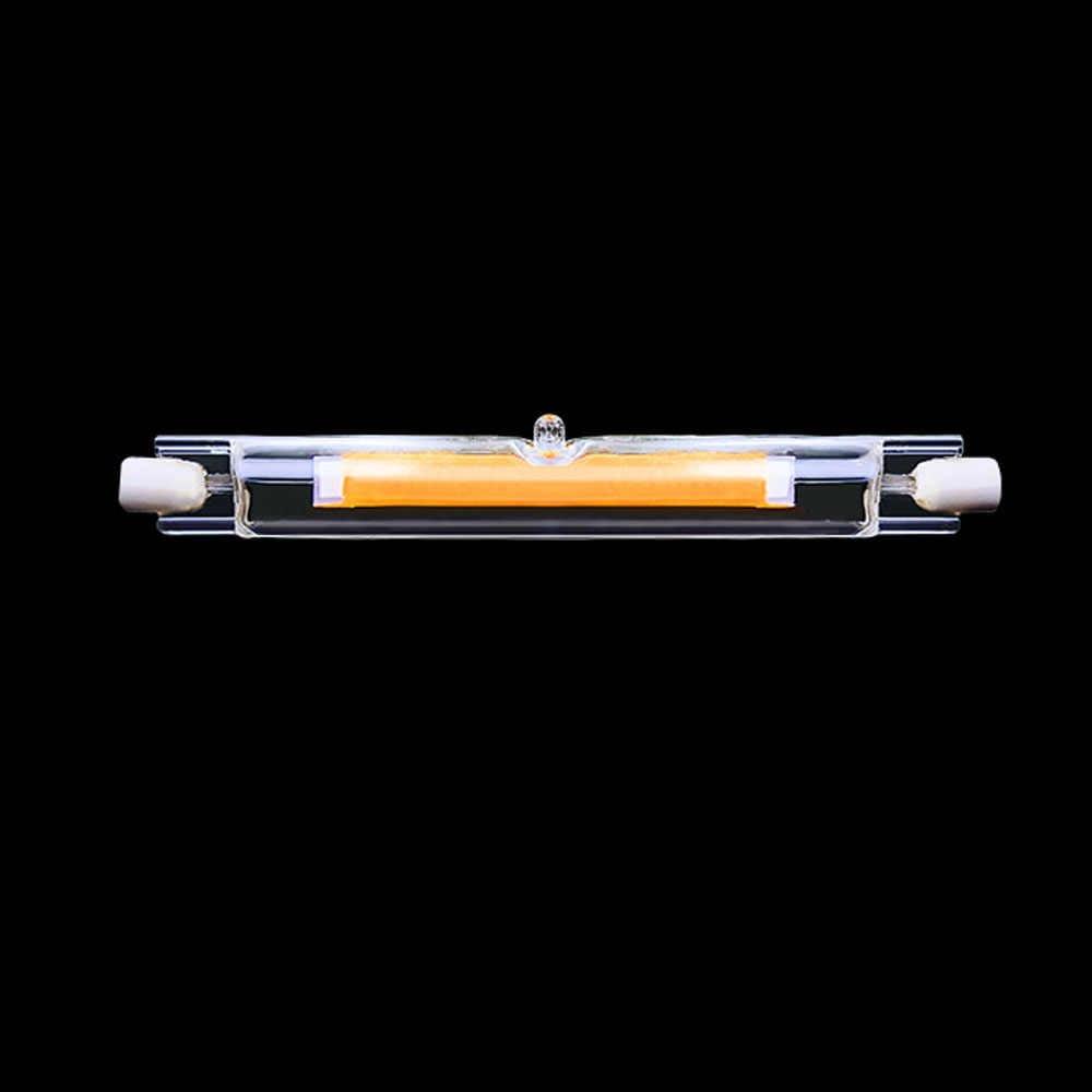 Tubo de vidrio LED R7S 118mm 78mm en lugar de lámpara halógena cob 220V 230v bombilla led potente R7S lámpara 4W 8W