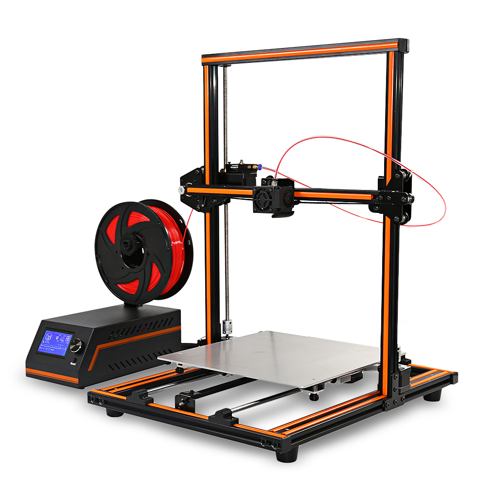 Original Anet E12 3D Printer DIY 300*300*400mm 0.4mm Nozzle Aluminium Alloy Frame 3D Desktop Printer Easy Assembly Large Size 2018 flsun i3 3d printer diy kit dual nozzle touch screen large printing size 300 300 420mm two roll filament for gift