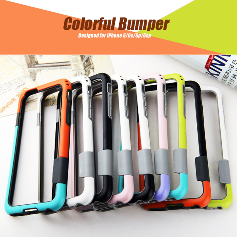 Parachoques para iPhone 6 6s 7 8 plus X Soft TPU Frame Case Cover - Accesorios y repuestos para celulares - foto 6
