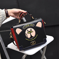 Women Small  Handbags Ladies Cute Cat PU Leather Shoulder Bag 2016 Detachable Belt Handbags Lady Messenger Crossbody Casual Tote