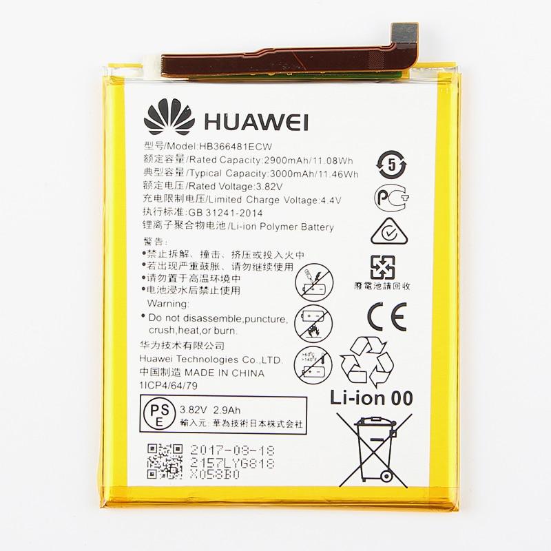 D'origine Huawei HB366481ECW Rechargeable Li-ion téléphone batterie Pour Huawei P9 Ascend P9 Lite G9 honneur 8 5C G9 2900 mAh