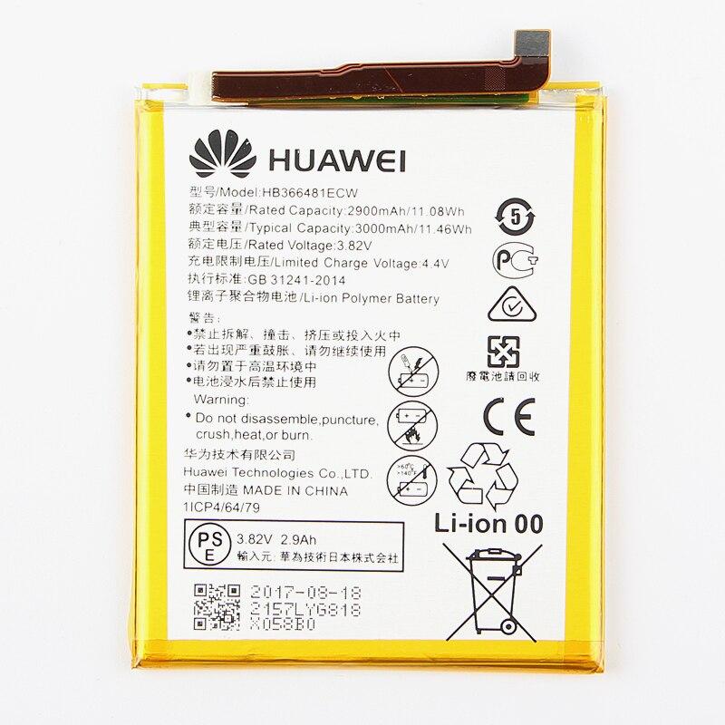 Original Huawei HB366481ECW Recarregável Li-ion bateria do telefone Para Huawei Ascend P9 P9 G9 G9 honra 8 5C Lite 2900 mAh