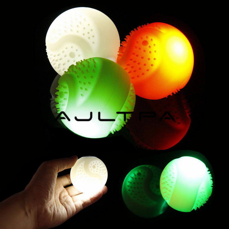 7cm Transer Dog Toys LED Glowing USB Charging Pet Ball Toys Lights Up Supplies For Night Play
