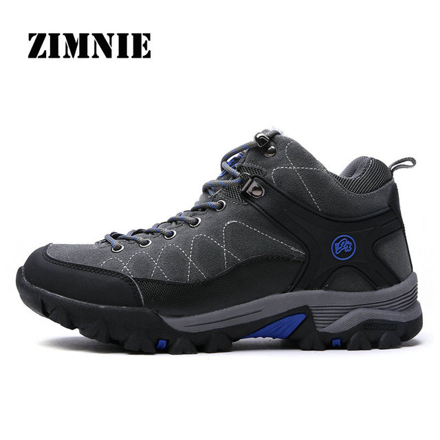 ZIMNIE Hiking Shoes Winter Boots Real Leather Men's Shoes Breathable Outdoor Trekking Man Mountain Walking Sneakers Climbing Men