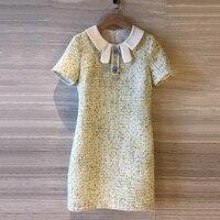 Летние женские платья модные женские однотонные мини платья лето 2019 с коротким рукавом платья для вечерние элегантные