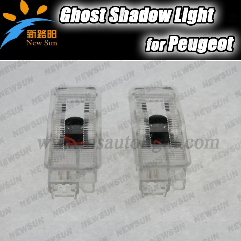 Car Door Welcome Light With Logo Ghost Shadow Projector Laser LED for Peugeot 207 306 307 406 407 5008 607