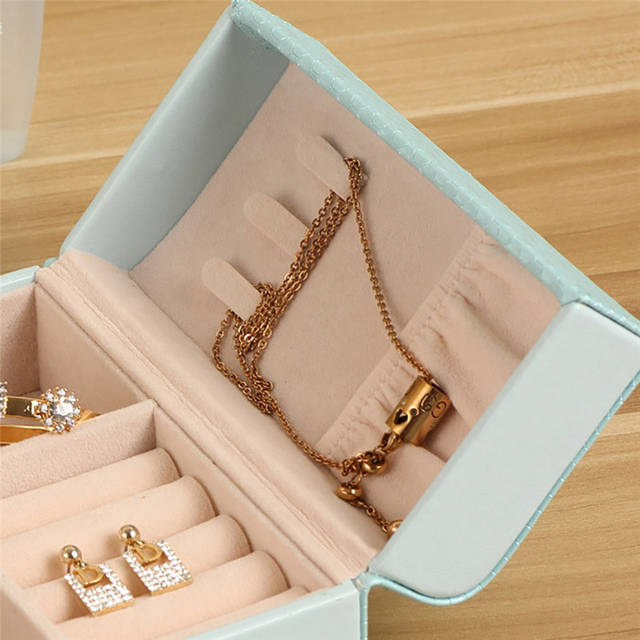 Portable Travel Jewelry Organizer Storage Box Necklace Earring