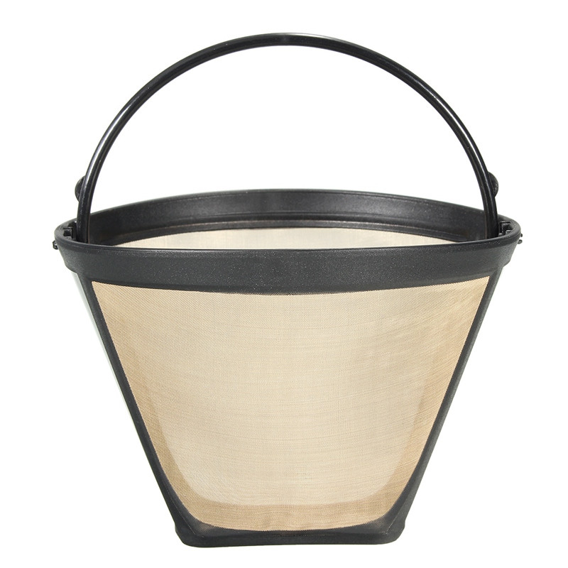 useful reusable 10 12 cup coffee filter permanent cone style coffee maker machine filter gold. Black Bedroom Furniture Sets. Home Design Ideas
