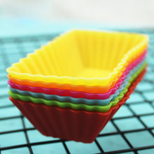 6/12 PCS Food-grade Silicone Muffin Cake Mold Rectangular Muffin Moulds Cup Brownie Pudding Jelly Chocolate Soap Mould(China)
