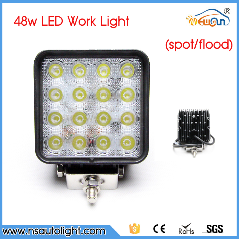 Free Shipping 2016 48W LED Work Light for Indicators Motorcycle Driving Offroad Boat Car Tractor Truck 4x4 SUV ATV Flood 12V 24V 18w led work light date running lights driving led bar offroad for indicators motorcycle boat car tractor truck 4x4 suv atv jeep