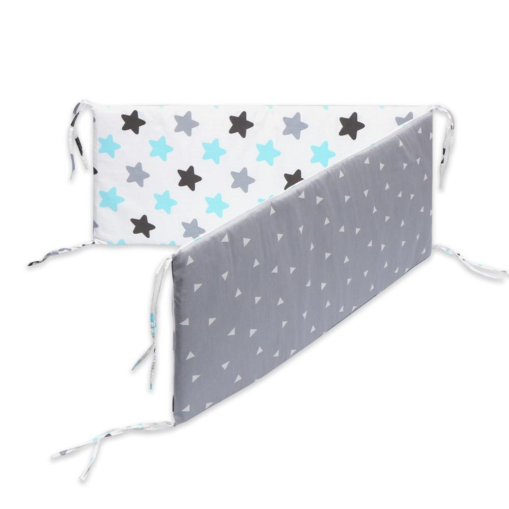 Детские кроватки бамперы для стандартных кроваток машинная моющаяся мягкая Накладка для детской кроватки хлопок - Цвет: Черный