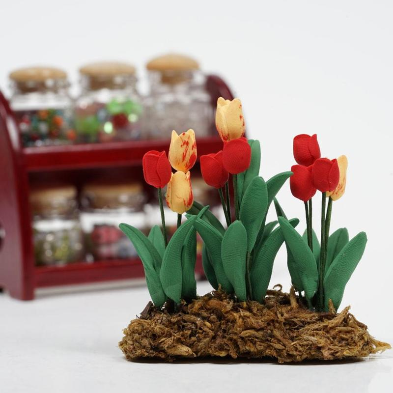 Dollhouse Miniature 1:12 Toy Flowers And Fruit Hanging Basket Doll House Decor#D
