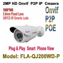 1080P HD-IP PoE Community Bullet Safety Digicam – three.6mm Vast Angle Lens Dwelling/Enterprise Video Surveillance Outside IP66 36x IR LEDs