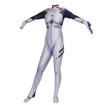 Ainiel Anime NEON GENESIS EVANGELION EVA Cosplay Clothing Ayanami Rei Costume Suit Jumpsuit Bodysuit Halloween Party Woman Kids