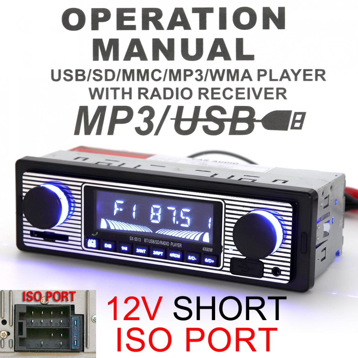 12V Red LED Screen Bluetooth Auto font b Car b font font b Radio b font