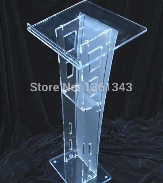 Clear acrylic podium/clear acrylic furniture Hot Sell Simple solid . acrylic pulpit.acrylic podium clear