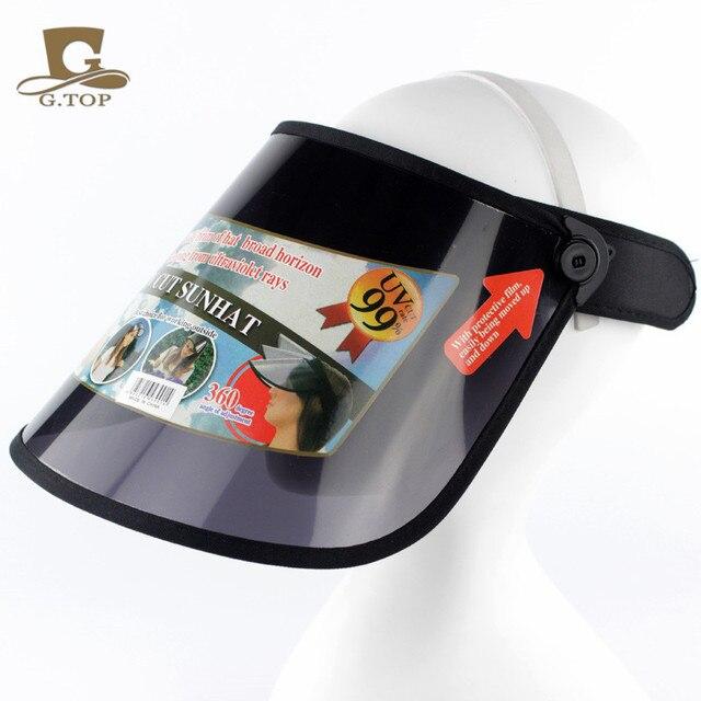 c0c539a2049 Higher quality plastic Sun Visor hat UV Protection Golf Sport cap adjustable
