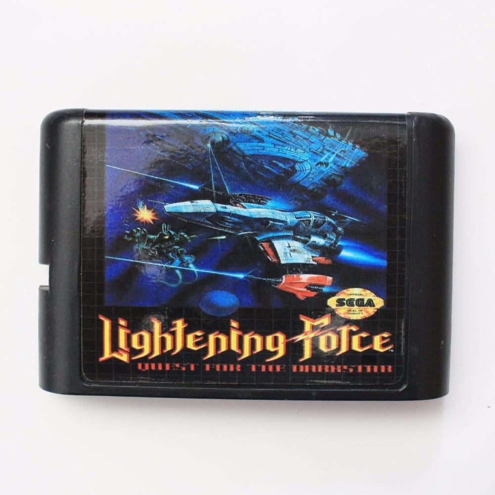 Lightening Force 16 bit SEGA MD Game Card For Sega Mega Drive For Genesis