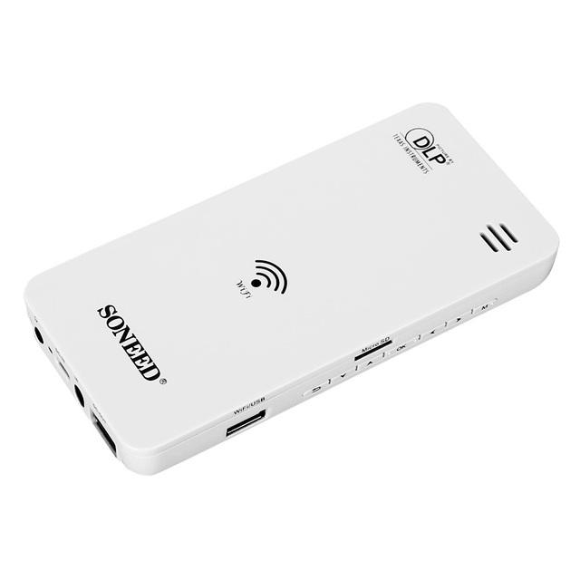 Excelvan GM60 W500 Mini Wifi Proyector 50 Ansi Lumens Multimedia Home Theater Proyector Portátil BANCO de la ENERGÍA del Enchufe de EE.UU.