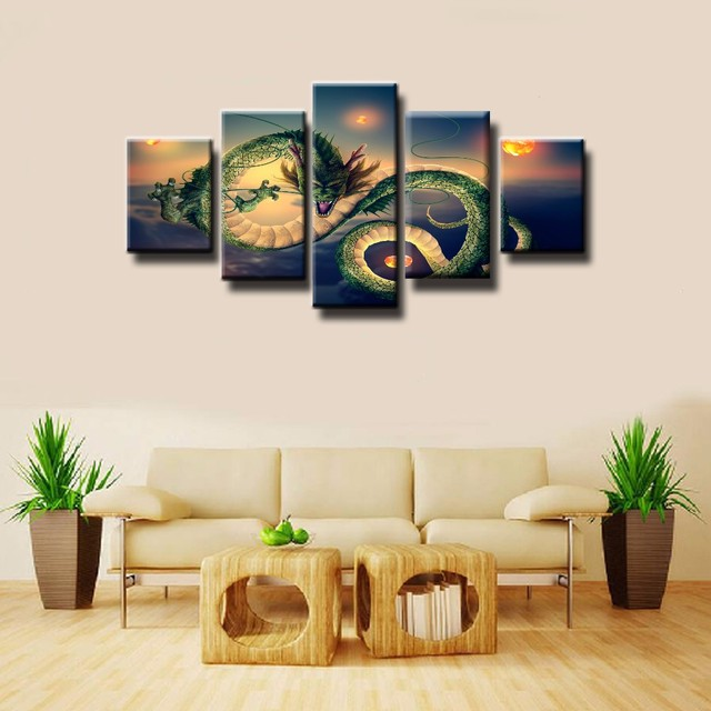 Painting Canvas Printed Poster Modern 5 Panel League Of Legends Home ...