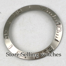 Zilver bezel insert voor 40mm sub horloge gemaakt door parnis fabriek