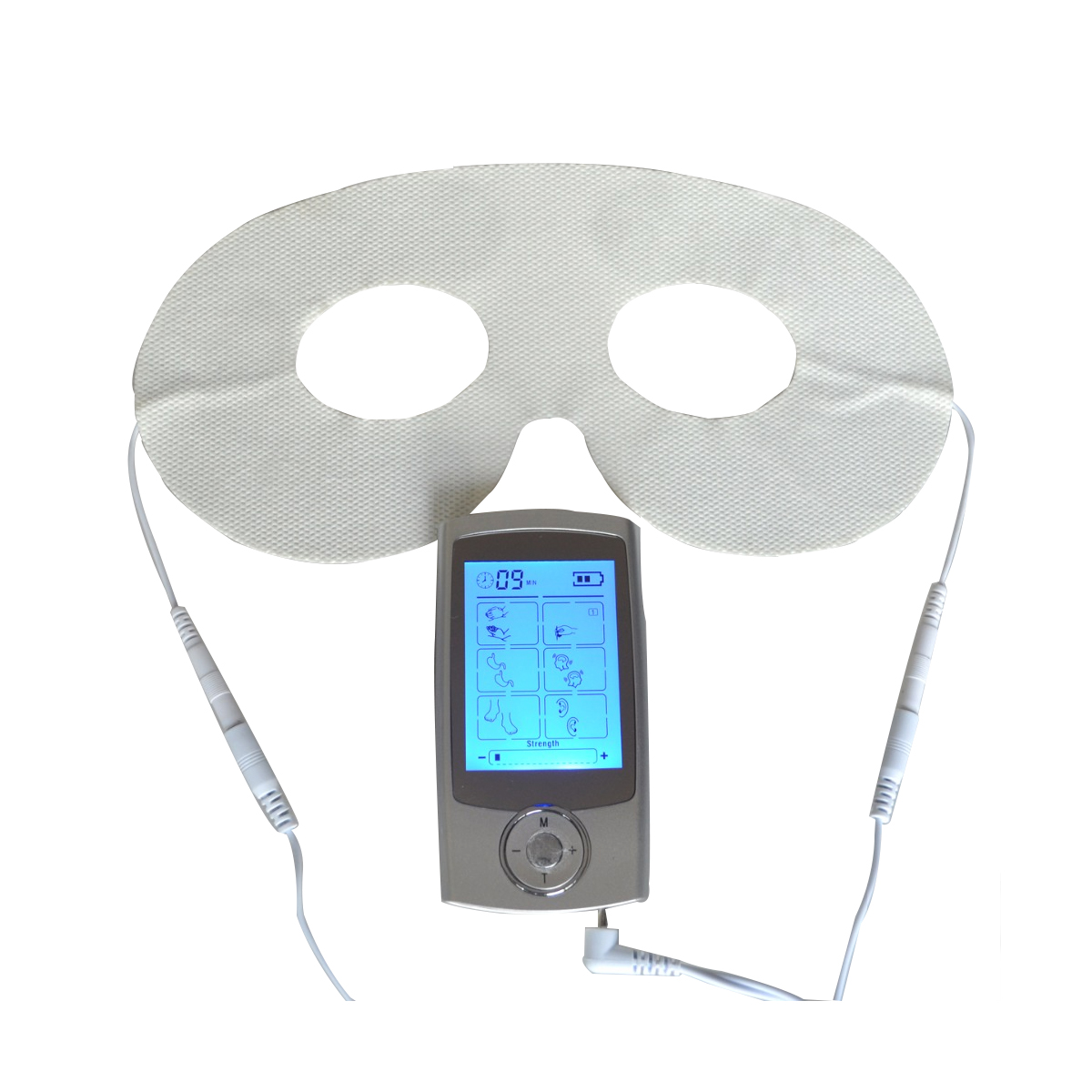 Tens Digital Therapy Massager Acupuncture Pulse Electrode Unit Muscle Stimulator Body Relaxation With Conductive Eye Mask 4 electrode tens acupuncture electric therapy massageador machine pulse body slimming sculptor massager apparatus body care