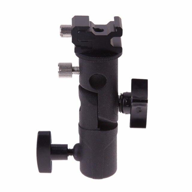 """E Тип универсальный металлический держатель для вспышки и для зонтика на горячий башмак светильник Подставка Кронштейн с 1/4 """"до 3/8"""" винтовым креплением Поворотный адаптер"""