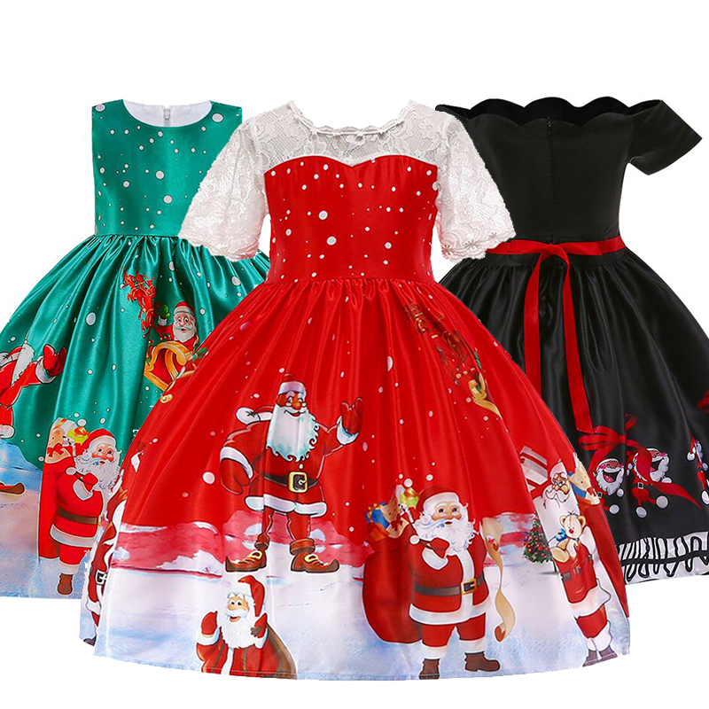 Girls Christmas Princess Costume 2018 Baby Girl Party Princess Dresses Children's Birthday Lace Dress Kids Clothing 2-10Y Dress цены онлайн