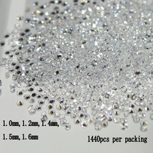 2017 New 1.2mm 1440pcs Crystal Chaton Nail Art Pixie Rhinestone Micro Pixie Manicure Decoration Tiny Mini Pixie Rhinestones цена